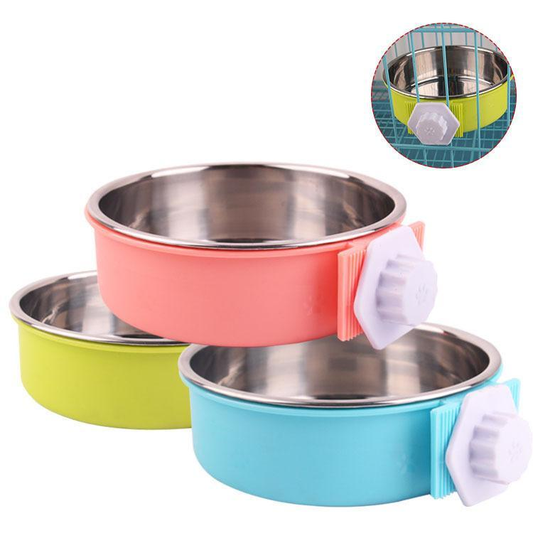 Pet Feeder Cage Hanging Fixed Bowl - Carrywon