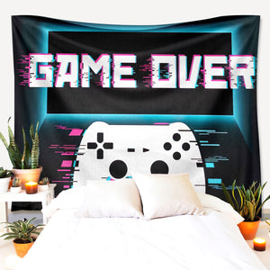Game Over Glitch Tapestry