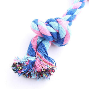 Pet Cotton Chew Knot Toy Braided Bone Rope - Carrywon