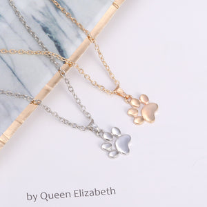 Cute Dog Footprint Claw Jewelry Sweater Necklace - Carrywon