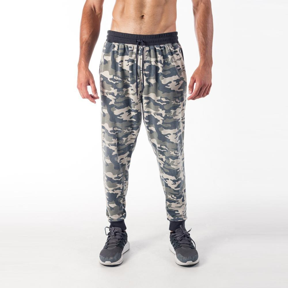 GREEN CAMOUFLAGE JOGGERS