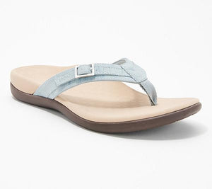 Vionic Thong Sandals with Buckle Detail - Tide Patty