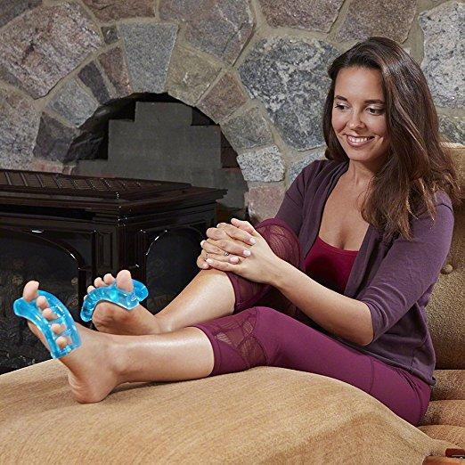 Wear YogaToes toe spacers anytime, anywhere