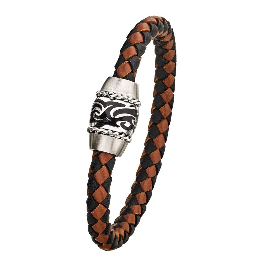 Brown/Black Leather Bracelet