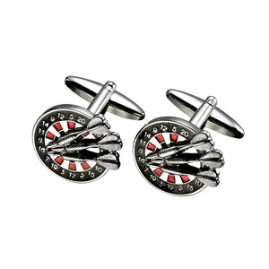 Dart Board Cufflink Set