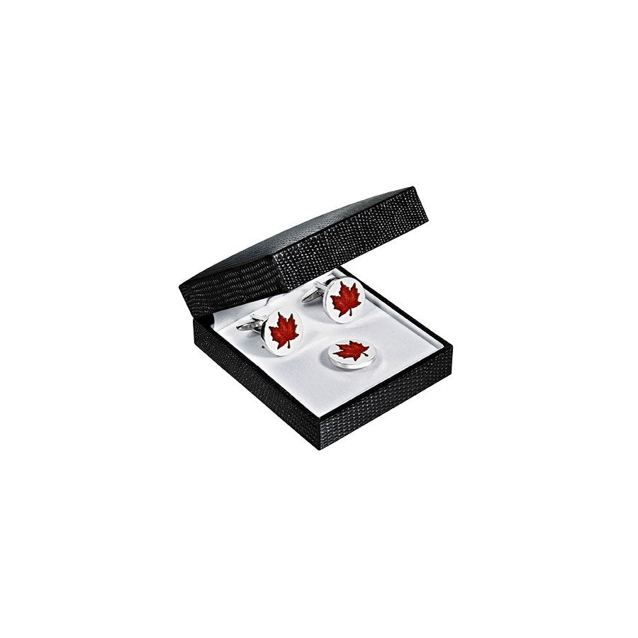 Canadian Cufflink and Tie Pin Set
