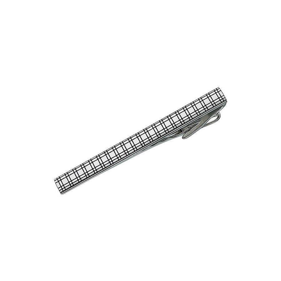 Plaid Embossed Tie Clip