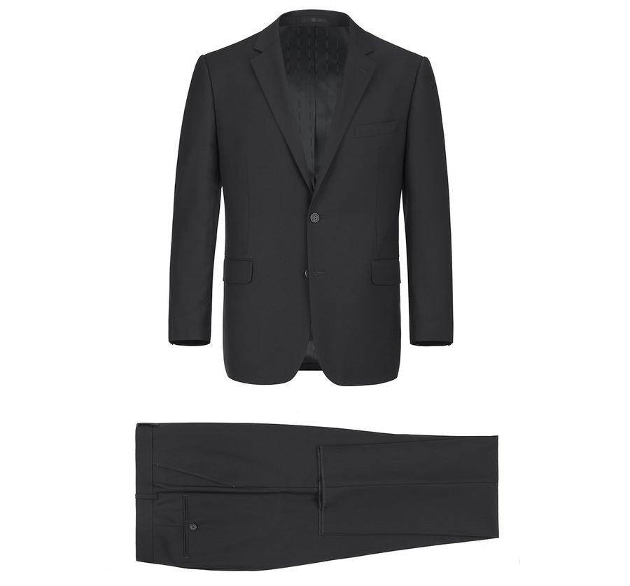 Renoir Single-Breast Black Notch Lapel Classic Fit Suit