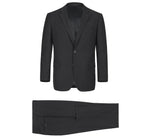 Load image into Gallery viewer, Renoir Single-Breast Black Notch Lapel Classic Fit Suit