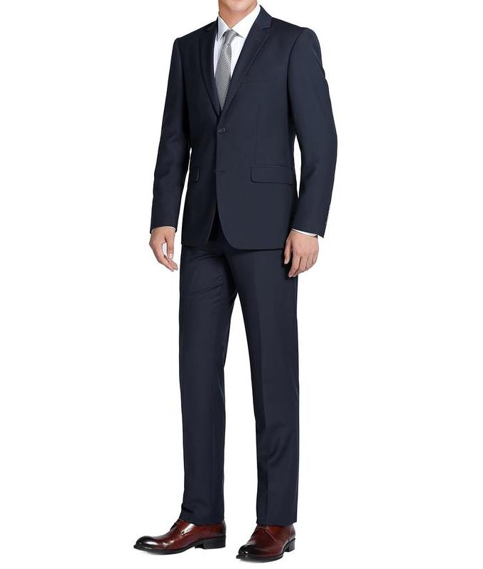 Navy Single Breasted Notch Lapel Slim Fit Suit