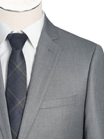 Load image into Gallery viewer, Light Grey Single Breasted, Notch Lapel Slim Fit Suit