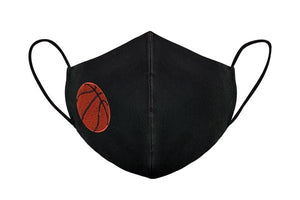 Black Embroidered Non-Medical Sports Masks