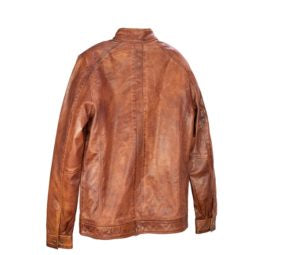 Men's Brown Genuine Leather Jacket
