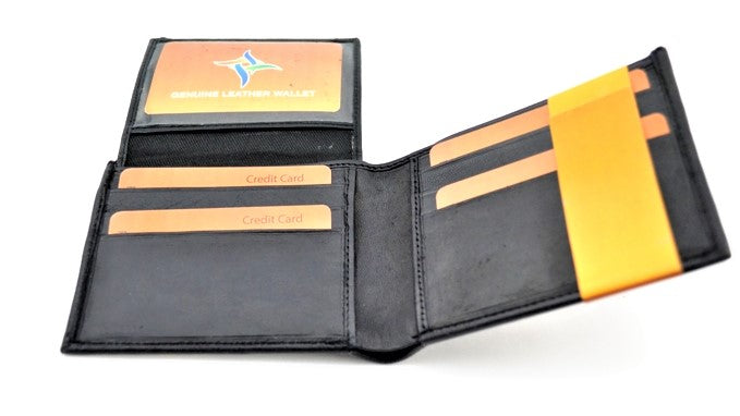 Men's Black Leather Wallet