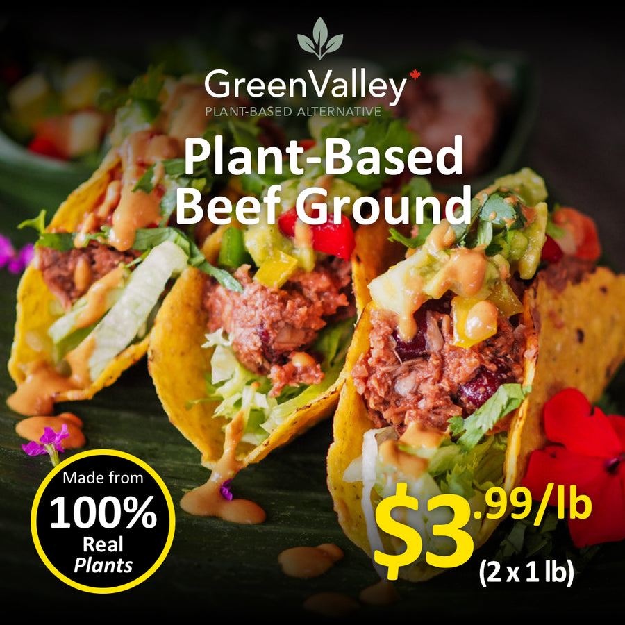 Green Valley Canada Plant-Based Beef Ground ( 2 x 1 lbs)