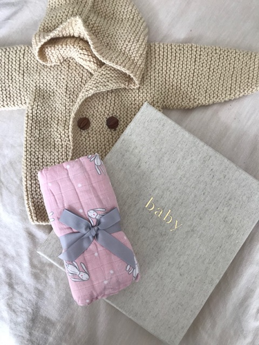 Baby Gift Bundle: Pregnancy Journal + Swaddle Muslin