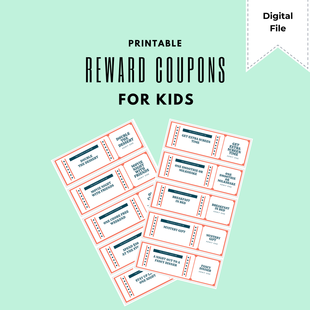 FREE | Printable Reward Coupons for Kids