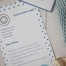 Load image into Gallery viewer, Printable Tooth Fairy Letter Set Blue