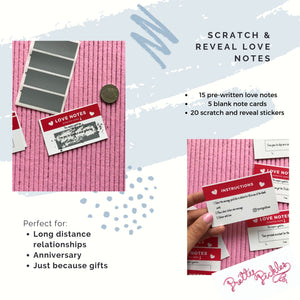 Love Notes for Him or Her: Paper Anniversary Gifts, Long Distance Relationships and Valentine's Day Gifts