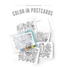 Load image into Gallery viewer, Colouring Kit Postcards