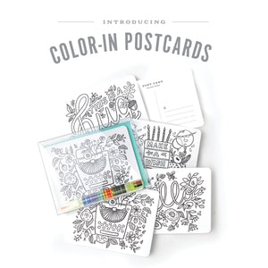 Colouring Kit Postcards