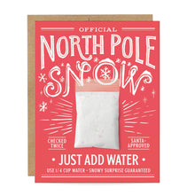 Load image into Gallery viewer, North Pole Fake Snow Card