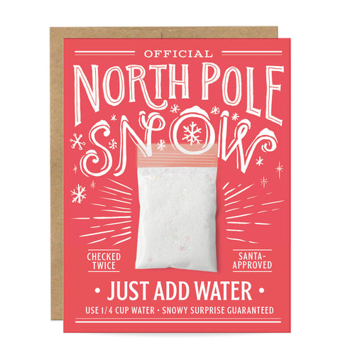 North Pole Fake Snow Card