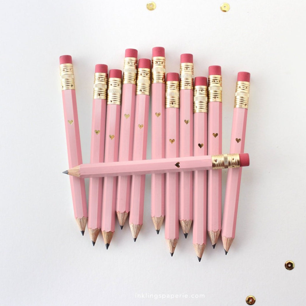 Mini Pink Dot Pencils | Set of 12
