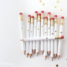 Load image into Gallery viewer, Mini White Dot Pencils | Set of 12