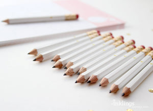 Mini White Dot Pencils | Set of 12