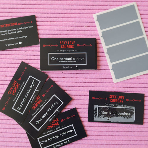 Sexy Love Coupons for Him: Scratch and Reveal