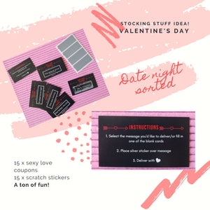 Scratch and Reveal Sexy Love Coupons
