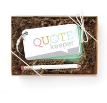Load image into Gallery viewer, Quote Keeper Starter Ring - Mint