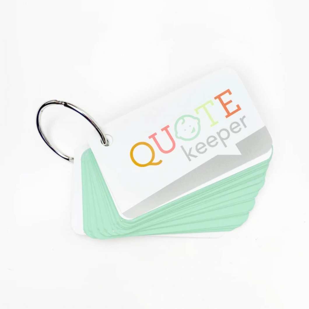 Quote Keeper Starter Ring - Mint