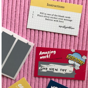 Scratch and Reveal Reward Cards: Scratchies. Appreciation, affirmation and reward cards for kids and teens