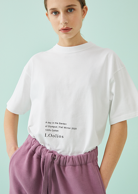 Museo Text Print T-Shirt White