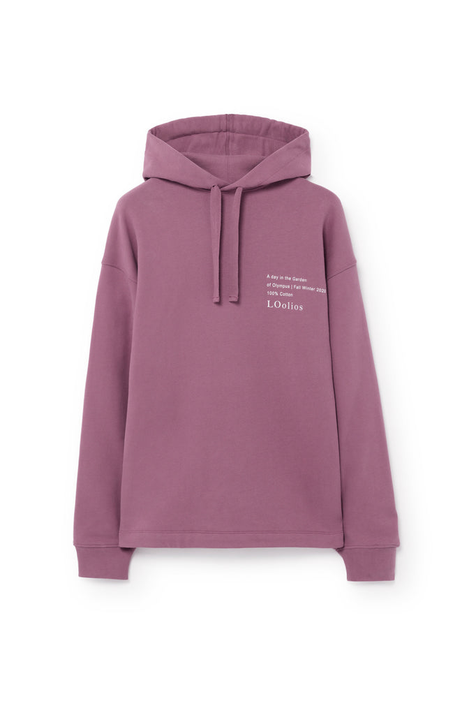 Hephaestus Oversized Hooded Sweatshirt Purple Grape