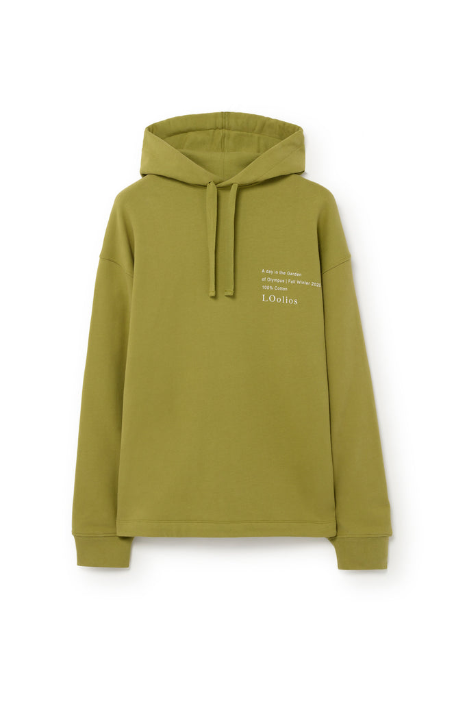 Hephaestus Oversized Hooded Sweatshirt Green Moss