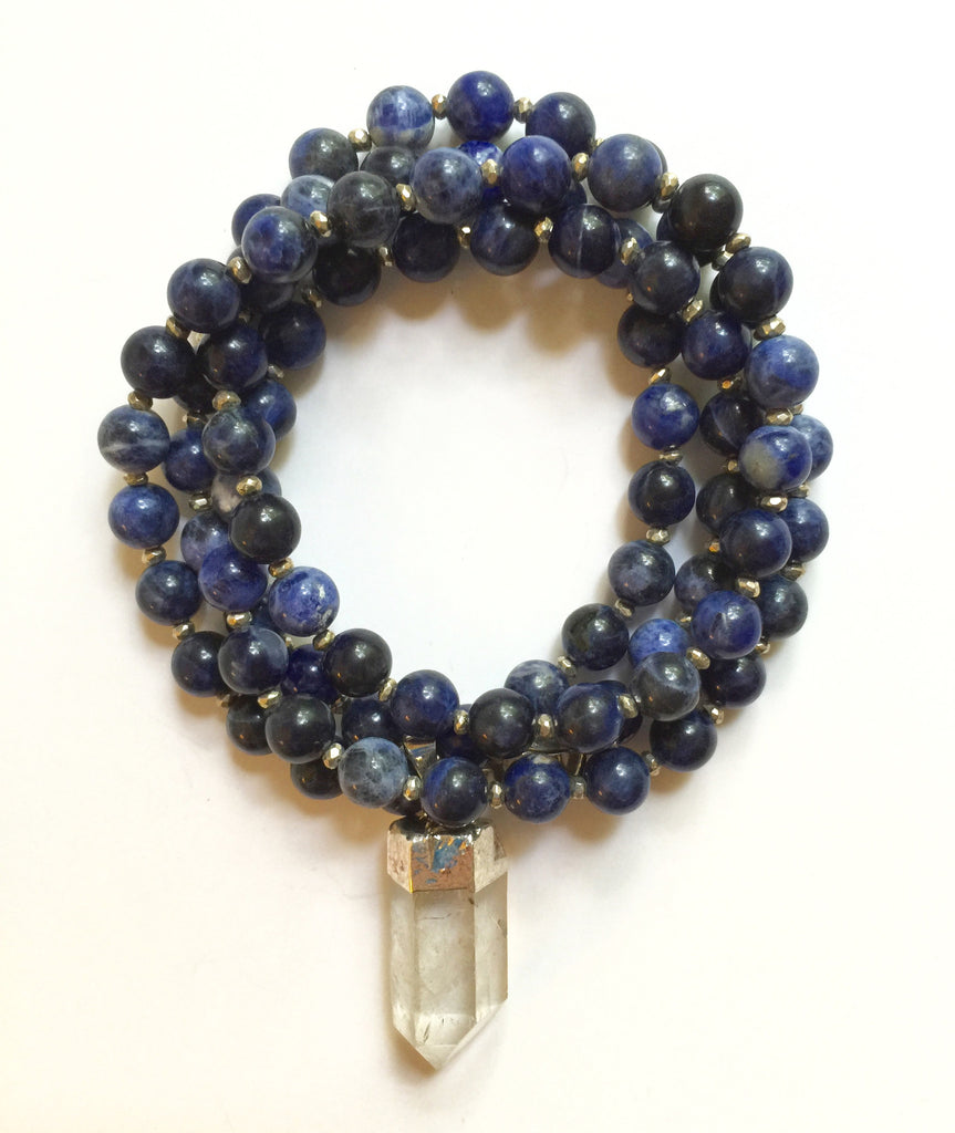 sodalite by boho mint wish crystal necklace jewelry gold products