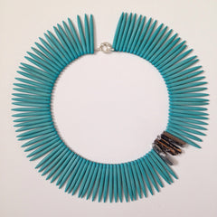 Dyed Howlite Spikes Collar Necklace