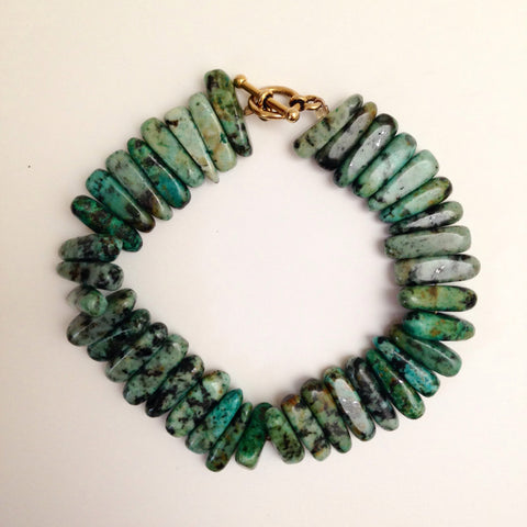 African Turquoise Points Bracelet