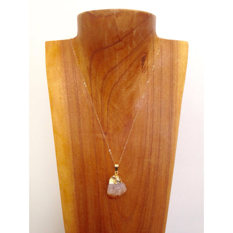 Delicate Citrine Necklace on Gold Filled Chain