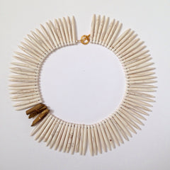 Howlite Spikes Collar Necklace