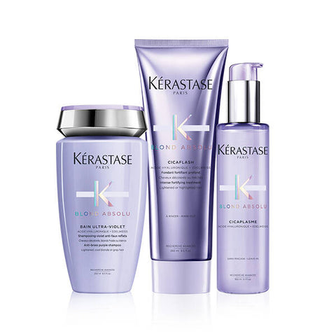 Routine Kerastase Blond Absolu pour cheveux blonds californiens