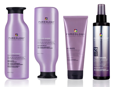 Routine hydratation cheveux fin Pureology