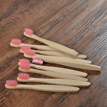 Load image into Gallery viewer, 10-Pack Bamboo Kids Toothbrushes - Eco Sloth