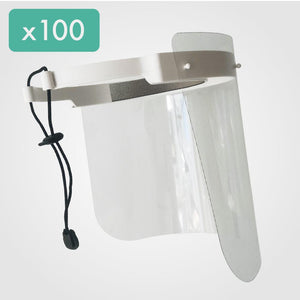 Pack of 100 Face Shield with 300 Visors