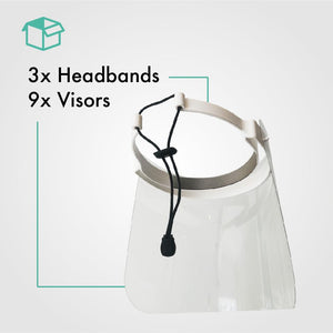 Pack of 3 Face Shield with 9 Visors