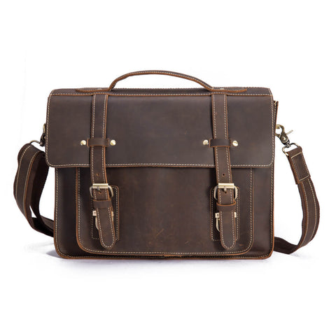 Leather Business Laptop Briefcase