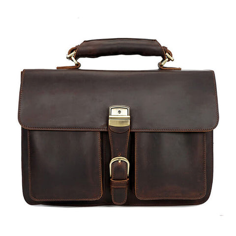 Crazy Horse Leather 15'' Laptop Briefcase